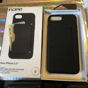 💍BNIB Black Incipio iPhone 6/7/8 Plus Wallet Case